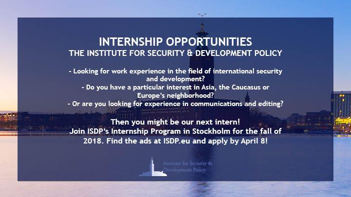 ISDP Internship Program Fall 2018 - Apply Now!