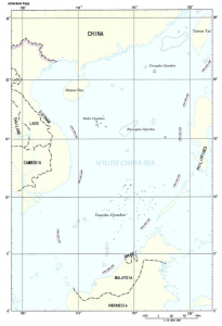 Nine dash-line map of South China Sea claim