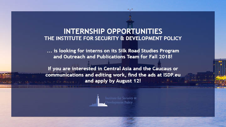 Internship Opportunities: Silk Road Studies and Outreach and Publications