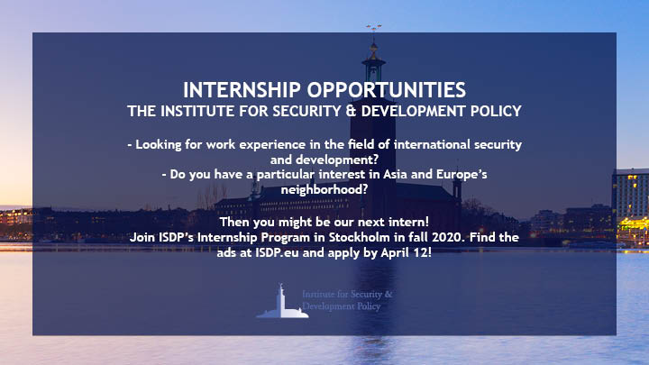ISDP Internship Program Fall 2020 - Application period started!