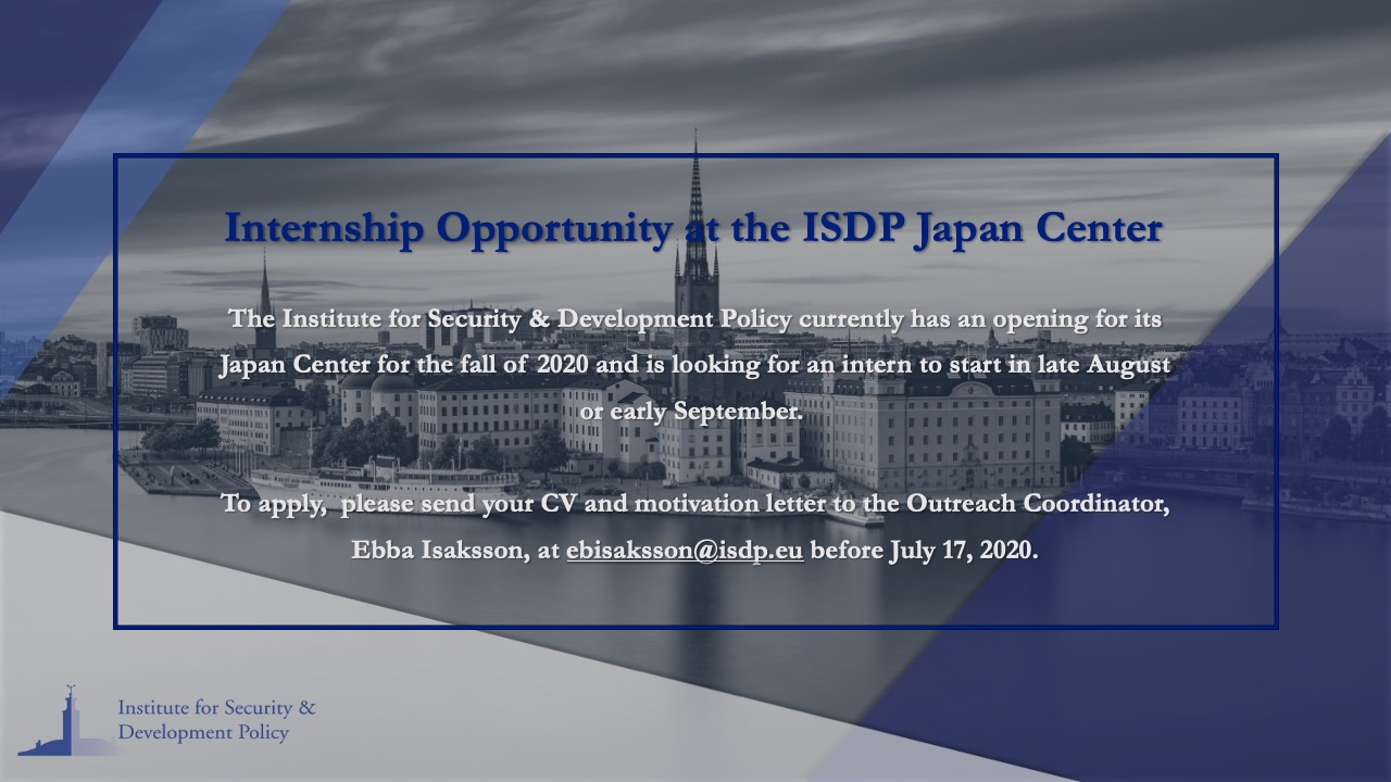 Internship Opportunity at the Japan Center